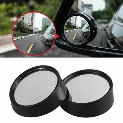 Black JMAHM 2pcs Blind Spot Mirrors Car 360/° Universal Adjustable Glass Wide Angle Round Convex Rear View Mirror