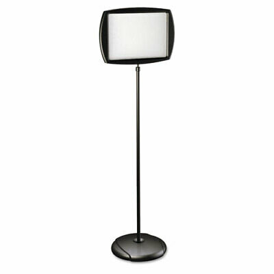 "MasterVision Rectangular Silver Easy Clean Dry Erase Sign Stand, 10""x15"" Black"