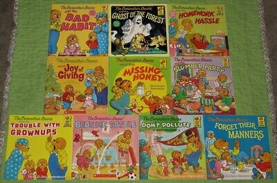 Lot 20 The Berenstain Bears First Time Picture Books~Stan Berenstain~Stickers