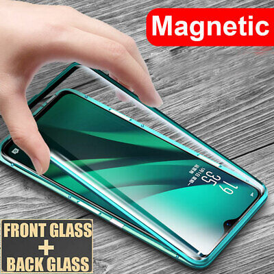 360° Magnetic Adsorption Case for Samsung Galaxy A20 A50 A50S Double Glass Cover