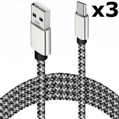 3x Micro USB Kabel Ladekabel SCHNELL Datenkabel Mikro - Samsung Handy Tablet PS4