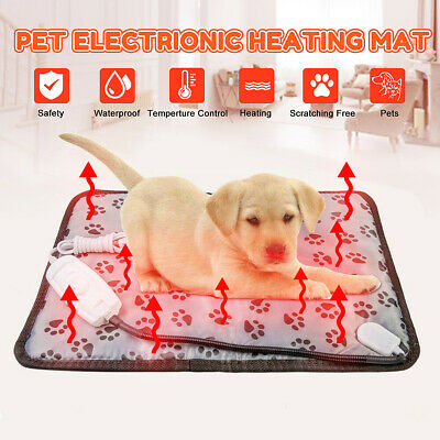 Pet Dog Electric Heating Pad Blanket Cat Bunny Warmer Mat Cushion Bed Waterproof