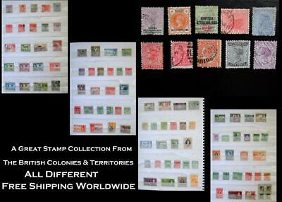 Stamp Collection British Colonies Bechuanaland  Western Australia South AU N.S.W