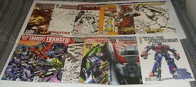 Transformers 12 x IDW Comics Including Limited Retailer Incentive Variants RARE
