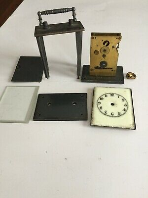 "Parts Only to Antique WATERBURY ""Midge"" Miniature Carriage Clock,C 1900-10"