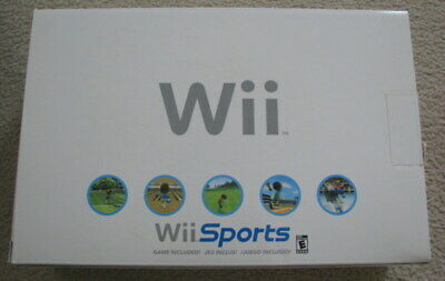 Nintendo Wii System Bundle w/ Original Box  Wii Sports Game White Console