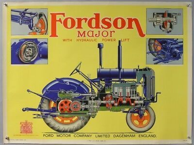 Vintage  Fordson E27N  Major  Advertising Poster In Excellent Condition