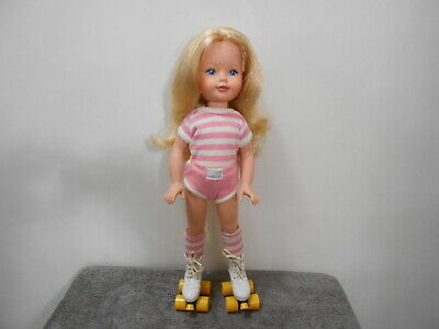 Vintage Kimberly Doll 1984 18 Inches Tall Original Outfit & Skates Excellent