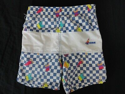 Vintage Early 80'S Kids Checkered Hobie Surf Shorts