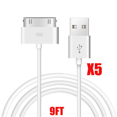 5X 30 Pin to USB Sync Data Charging Cable Charger Cord for iPhone 3G 3GS 4 4S