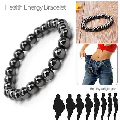 Magnetic Healing Bracelet Hematite Bead Bangle Arthritis Pain Relief Weight Loss