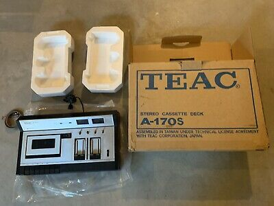 Vintage Teac Stereo Cassette Deck A-170s Powers On Very Nice & Clean Looks Great