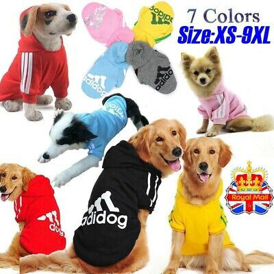 UK Winter Pet Coat Dog Jacket Clothes Puppy Cat Sweater Coat Clothing Apparel ~~