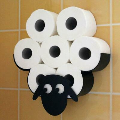 Novelty Sheep Toilet Roll Holder Wall Mounted Decor Metal Face Tissue Storage