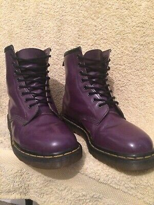 Genuine Dr Martens 1460 Made In England Purple 8 Eye Leather Boots Uk7 Eu40 Us9