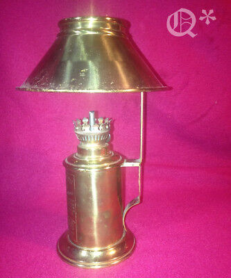 1900s French Lampe Pigeon Oil Lamp with Shade