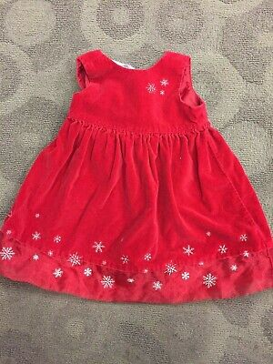 Old Navy Christmas Red Velvet Dress - Size Toddler Baby Girl 2T