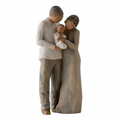 Willow Tree We Are Three Figurine Resin Newborn Baby Keepsake Ornament Gift Box