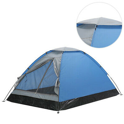 US Pop Up Dome Tent Outdoor Backpacking Camping Tent Hiking 2 Person Lightweight