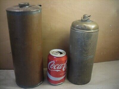 2 Vintage brass and copper   water bottles
