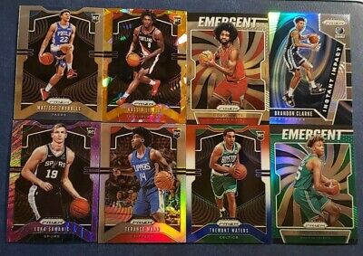 2019-20 Prizm Basketball ROOKIE Color Inserts Parallels Base Pick Your Card