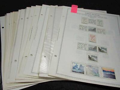NobleSpirit No Reserve } Desirable Faroe Islands Stamp Page Collection!