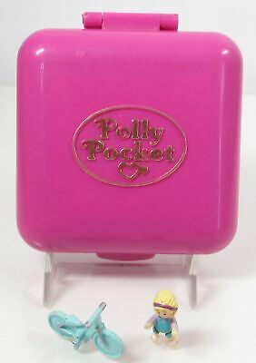 1989 Vintage Polly Pocket Polly World Compact + 1 Doll + 1 Accessory