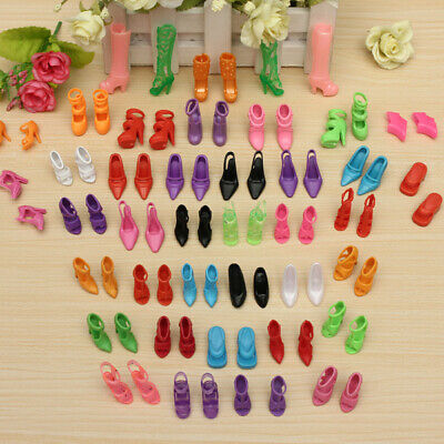 80pcs Fashion Dolls High Heels Shoes Boots Sandals For Dolls Outfit Dress