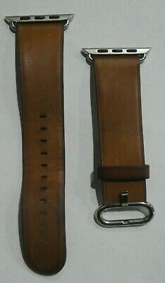 Original Apple Watch Band Classic Buckle Natural leather Strap Saddle Brown 42MM