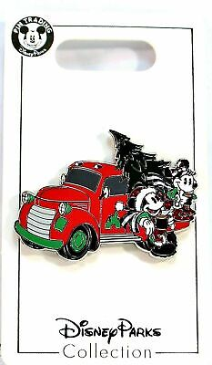 2019 Disney Parks Holiday Mickey and Minnie Truck with Tree Christmas Pin NEW
