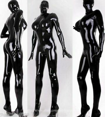Gummi Latexanzug Latex Catsuit Bodysuit Ganzanzug Suit Rubber Party Maske