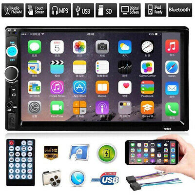 """7010B 7"""" Car Mp5 Player 2Din HD Touch Screen FM Stereo Radio Support Android IOS"""