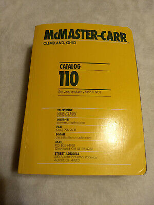 McMaster Carr Industrial Catalog #110 Cleveland, Ohio - print date : 2004 SALE!