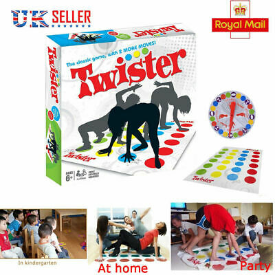 Funny Twister The Classic Game Body Game With 2 More Moves Family Party Game New