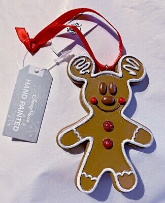 Disney Parks Mickey Gingerbread Man Ornament Christmas Holiday - NEW