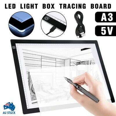 A3 LED Light Box Tracing Drawing Board Art Design Pad Copy Lightbox Day&Light AU
