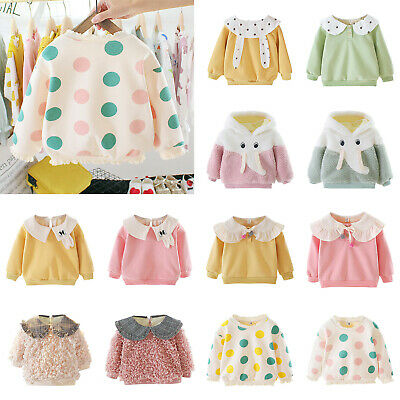 Baby Girl Kids Sweatershirt Long-Sleeves Clothes Spring Autumn Breathable Tops