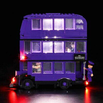 LED Light Up Kit For LEGO 75957 The Knight Bus Lighting Set Building Kit Bus PVC