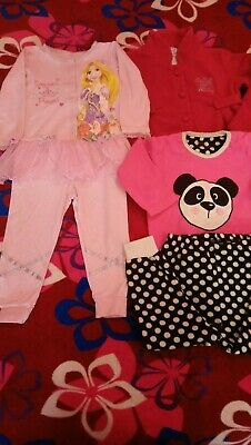 Girls PJ Bundle And Disney Dressing Gown Age 2-3 Years