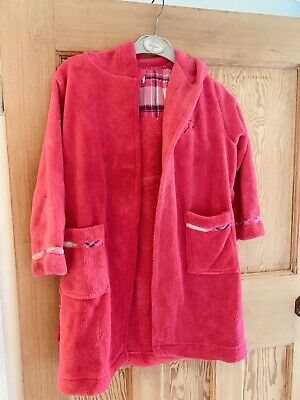 Girls Jasper Conran fluffy pink dressing gown age 5-6 years