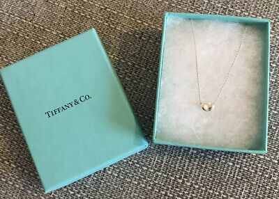 Tiffany & Co Elsa Peretti Sterling Silver Bean Necklace RRP £130