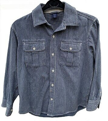 GAP KIDS blue/ white striped denim cotton Shirt, 8-9 yrs/ 134 cl