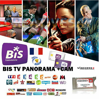 BIS TV Panorama 12 Months Viewing Card + Viaccess CAM Bundle – Watch French T...