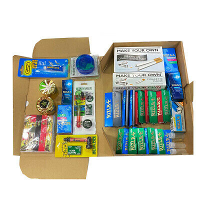 Rizla Combo Gift Tray kit Set Classic papers filter tips girder glass tips