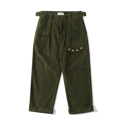 CLUB STUBBORN ROYAL Air Force Corduroy Trousers Olive