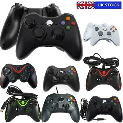 Dual Vibration Gamepad Wired & Wireless Game Controller Joystick for Xbox 360 UK