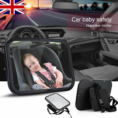 Large Wide Easy View Rear Baby Child Back Seat Car Safety Mirror Shatter-proof