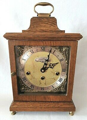 Warmink Westminster Clock Wubba Dutch 8 Day Key Wind Silent Switch Vintage