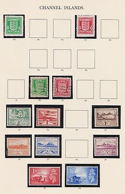 Stamps Gb Occupation Channel Isles Issues Superb Early Selection Postal History