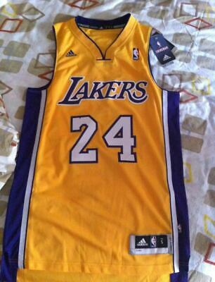 Los Angeles LA Lakers Kobe Bryant 24 Yellow Gold Size Small S Swingman Jersey